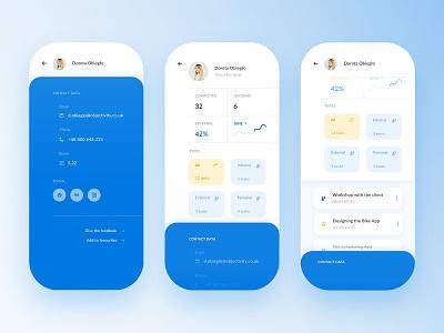 Team Management App - User profile user profile to-do task list task manager management team task objectivity app ux ui design