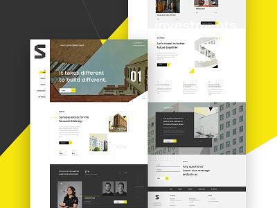 Website Mockup for Synapse - Rethink Real Estate website investors webdesign web developers investments real estate