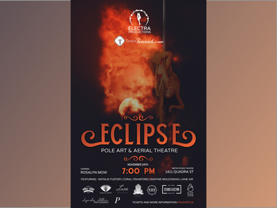 Eclipse Poster pole typography design layout design posterdesign