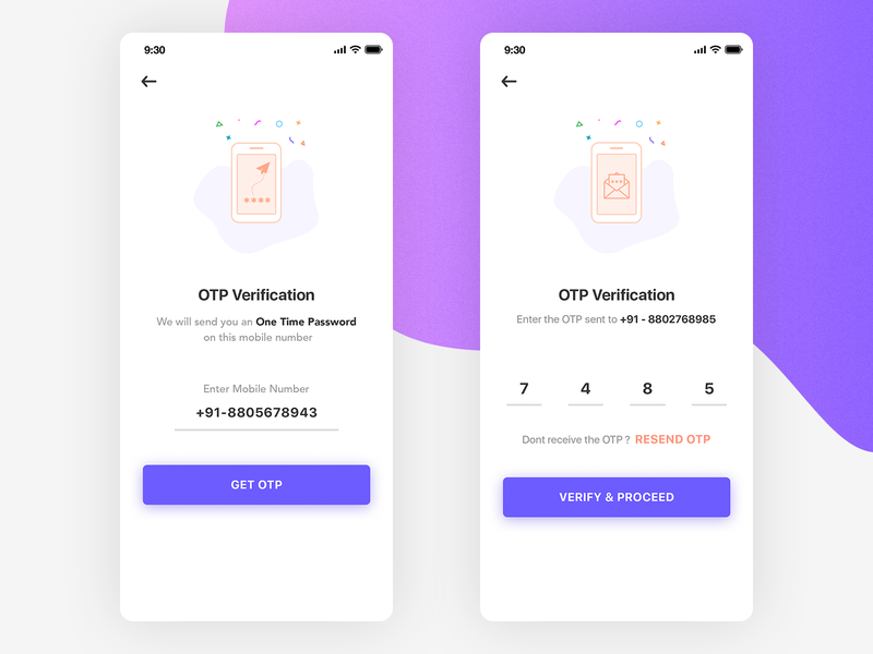 Mobile Number Verification by Amit Kumar on Dribbble