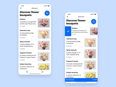 Bouquet sending app added to cart selected state bouquet sending app dailyui ux uidesign ui uxdiary