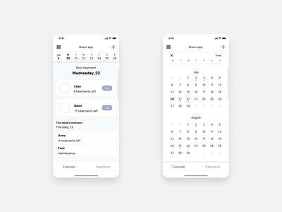 Silk expert pro - app wireframe calendar ux design wireframes uxdiary