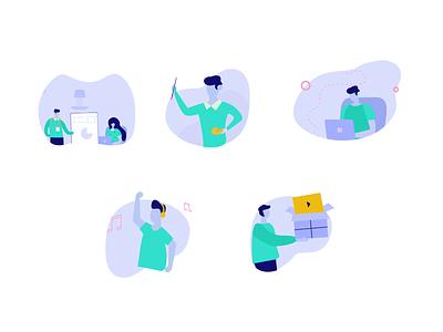 working process working process vector designprocess design illustration