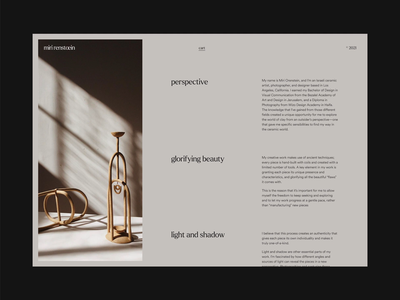 Pottery Store editorial slider scroller pottery photography animation ui website design design whitespace minimalist minimal