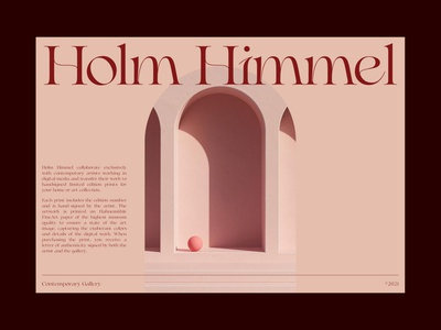 Holm Himmel redesign webdesign typography red branding design uiux ui layout whitespace minimalist minimal editorial