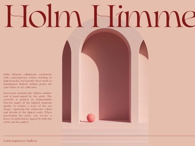 Holm Himmel redesign webdesign typography red branding design uiux ui layout whitespace minimalist minimal editorial