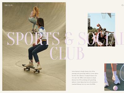 The Club design cool summer uxui website design ui layout grid minimalist whitespace minimal editorial