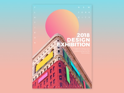 Design Exhibition Poster event exhibition graphic design colourful block new york poster