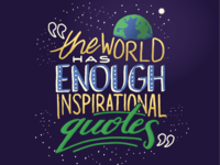 The world has enough inspirational quotes