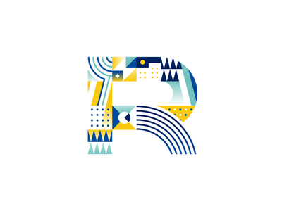 Letter R adobeillustator adobe pattern vector illustrator calligraphy handmadefont font type typogaphy logotype lettering color design