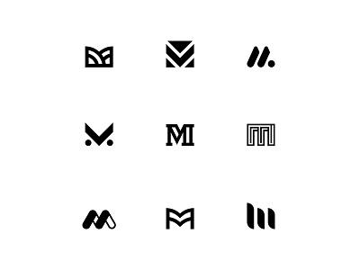 M Logo Exploration logo design adobe illustrator black vector marca brand logodesign logodesigner logo