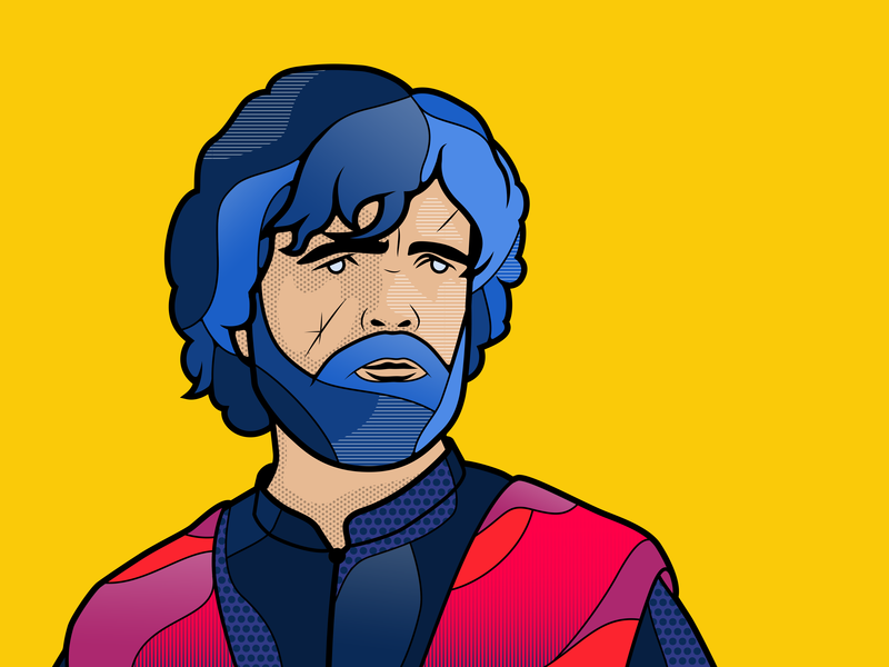 Tyrion Lannister yellow color design adobe gameofthrones got game of thrones illustrator adobe illustrator illustration lannister tyrion tyrion lannister
