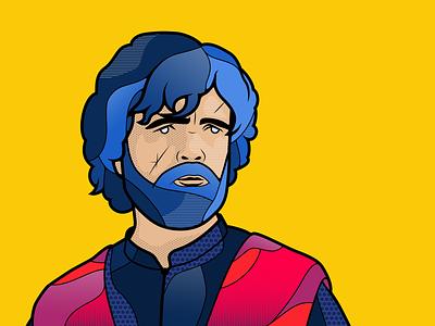 Tyrion Lannister yellow color design adobe gameofthrones got game of thrones illustrator adobe illustrator illustration lannister tyrion tyrion lannister