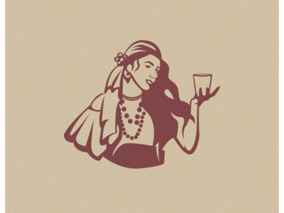 Drink Girl Illustration