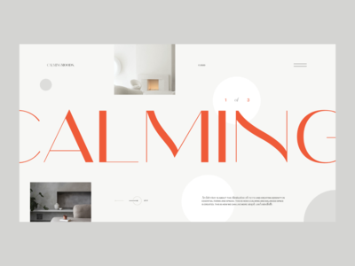 Interior Design — Website Concept