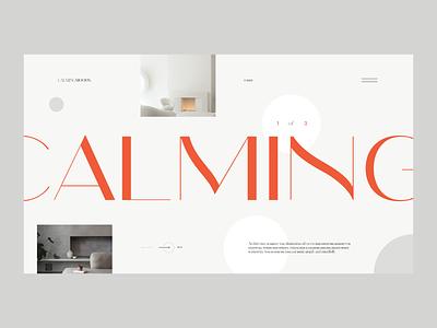 Interior Design — Website Concept interior architecture photos concept web design layout minimal ui