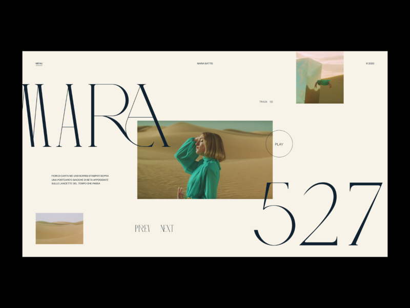 527 — Website concept fashion grid photos web design layout minimal ui