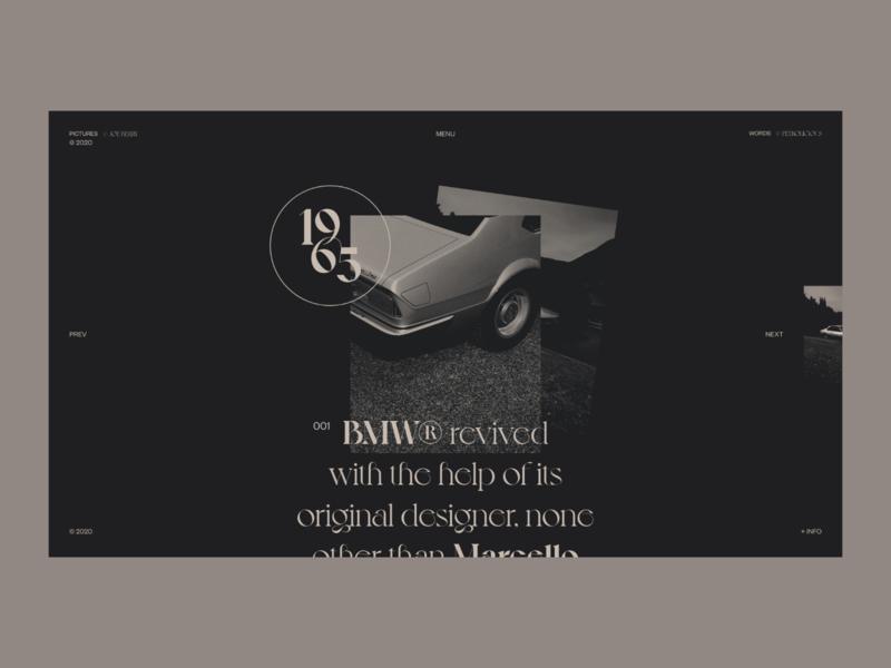 BMW® Classic's — Webiste Concept