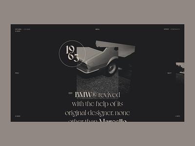 BMW® Classic's — Webiste Concept gold car vintage classy concept photos web design layout minimal ui