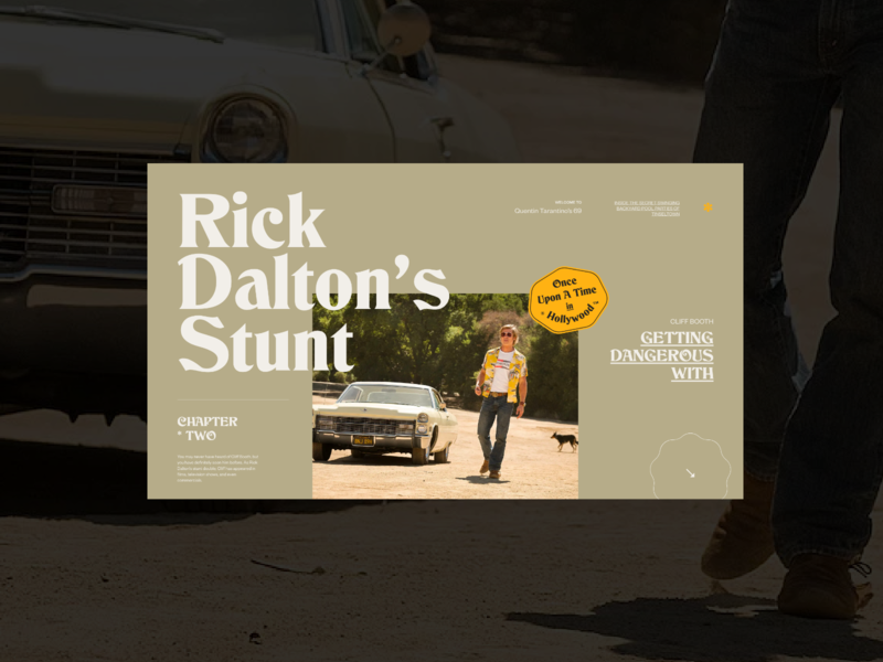 Once Upon A Time In Hollywood — Website concept vintage typography grid concept photos web design layout minimal ui