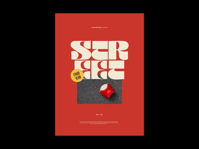 Street Food — Typographic Poster red vintage street minimal typographic poster