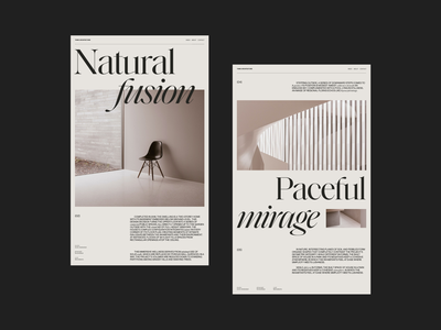 Architecture layout Exploration — 2 architecture interior photos editorial typography grid vintage web design layout ui minimal