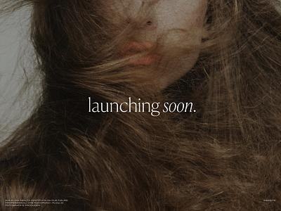 Website Launching Soon branding design vintage typography fashion ui minimal