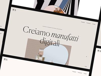 AVA Company Showcase fashion typography photos web design layout ui minimal