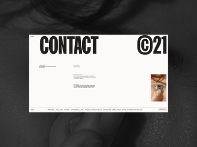 Olsen • Contact Page concept photos web design layout minimal ui