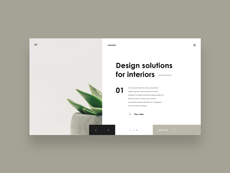 Interior design solutions design minimal webdesign layout ui