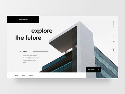 Architecture photography user interface layout photos minimal web design architecture ui