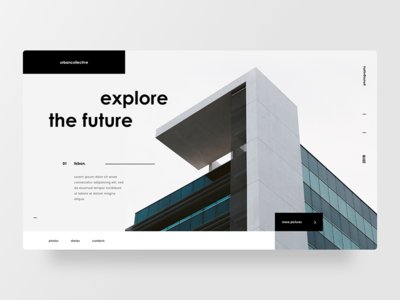 Architecture photography user interface layout photos minimal web design architecture ui