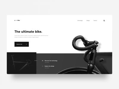 Ultimate Bike photos layout user interface minimal web design bike ui