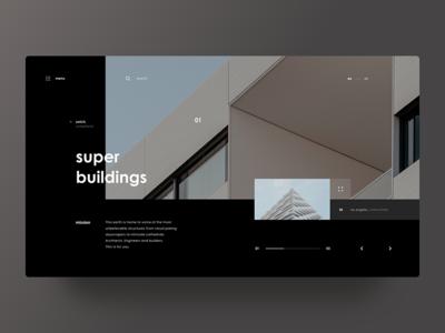 Super Buildings grid web design user interface ui photos minimal layout architecture
