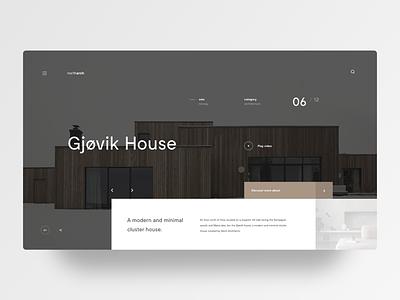 Concept house architecture concept house grid layout minimal web design ui