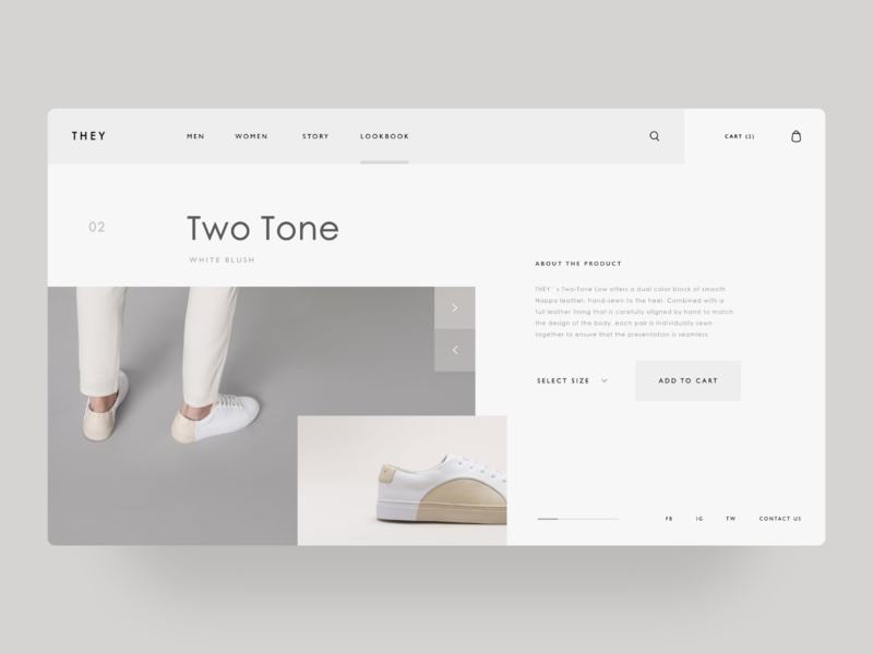 THEY New York — Concept user interface grid web design minimal sneakers shoes fashion