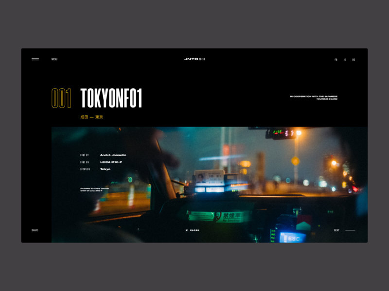 TOKYO Street Photos | Gallery design concept grid photos layout ui web design minimal