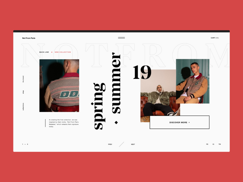 Streetwear — Website Concept user interface layout streetwear website fashion typography serif grid ui