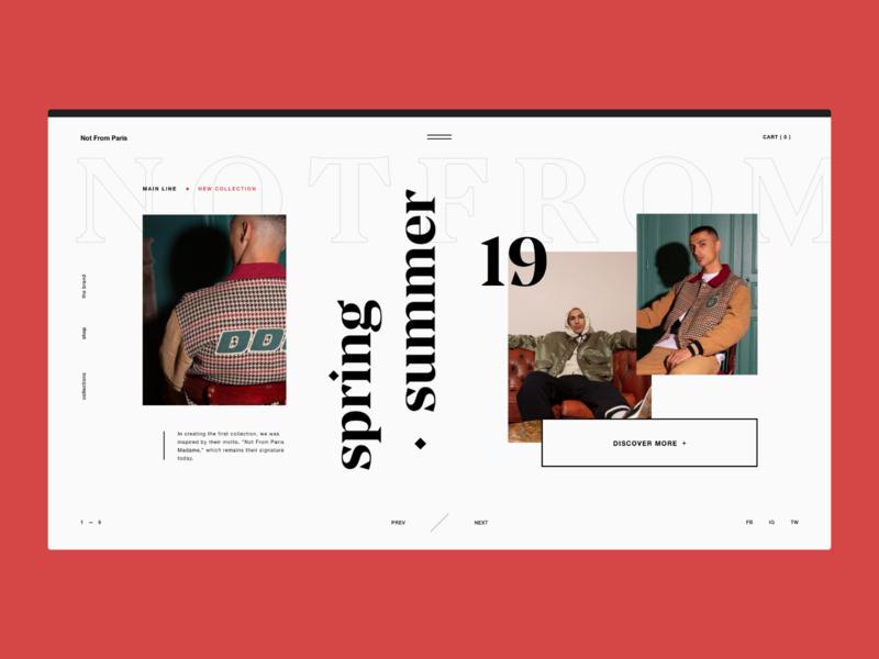 Streetwear — Website Concept user interface layout streetwear website fashion typography serif grid ui