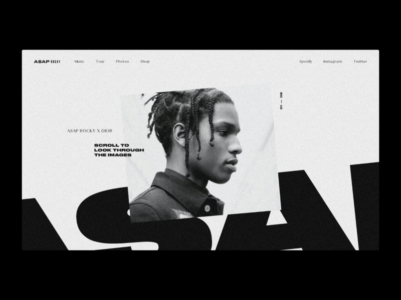 A$AP Rocky — Website Concept asap rocky fashion concept layout web design minimal ui