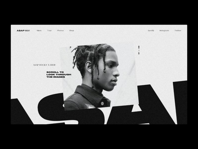 A$AP Rocky — Website Concept asap rocky fashion concept layout web design minimal ui