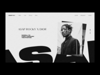 A$AP Rocky — Website Concept