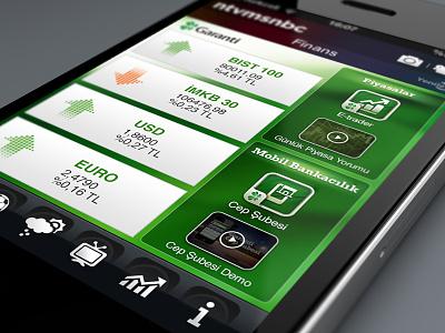 Ntvmsnbc Mobile iphone ios ui app finance market ntvmsnbc garanti bankası