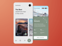 Trip App🏕 book app trip concept animation motion mobile application app interaction adventure flat design ux ui