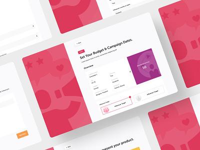 Advertiser web app web design ux ui onboarding