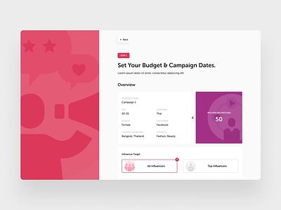 Campaign web apps web design ux ui