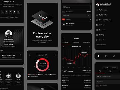 The 1 dark app dark ui lifestyle ios mobile app ux ui