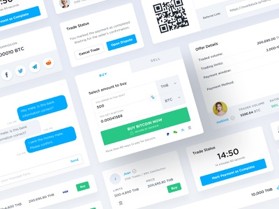 Component Library component library crypto web app ux ui
