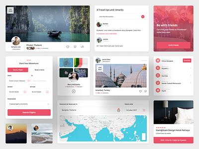 Travelbook travel web app web design ux ui