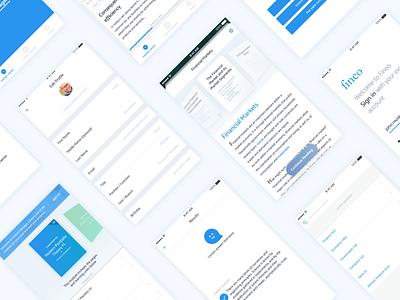 Fineo - Education Platform case study app ios minimalistic white blue visual design education project new ui ux